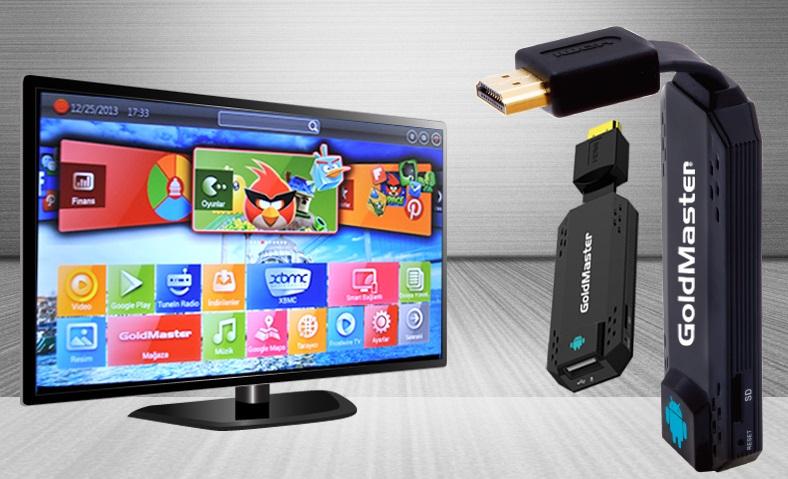 GoldMaster SmartStick ile Televizyonunuzu Smart PC'ye Dönüştürüyor
