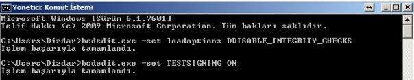 Windows işletim sisteminde sürücü imzalamayı devre dışı bırakma